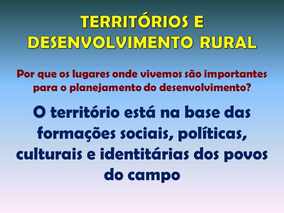 TERRITÓRIOS E DESENVOLVIMENTO RURAL