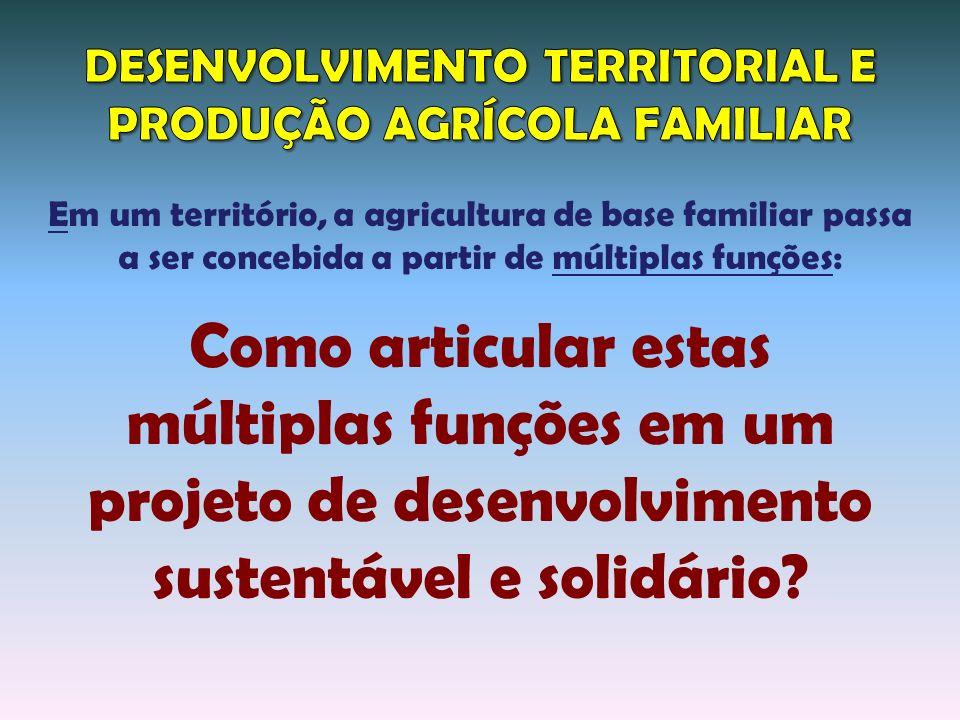 DESENVOLVIMENTO TERRITORIAL E PRODUÇÃO AGRÍCOLA FAMILIAR