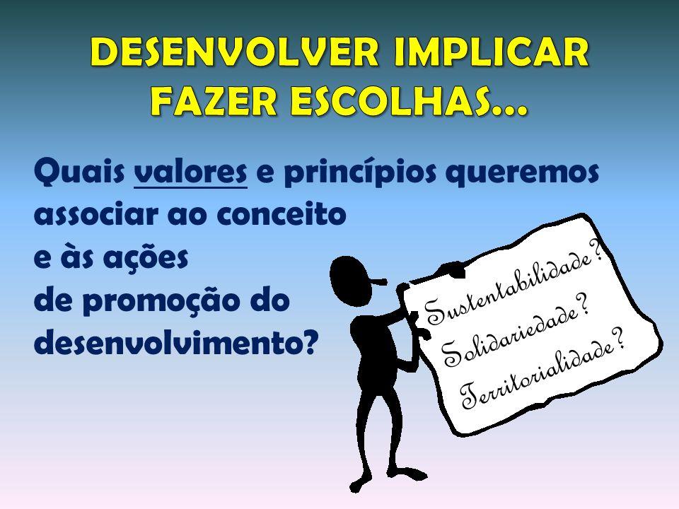 DESENVOLVER IMPLICAR FAZER ESCOLHAS...
