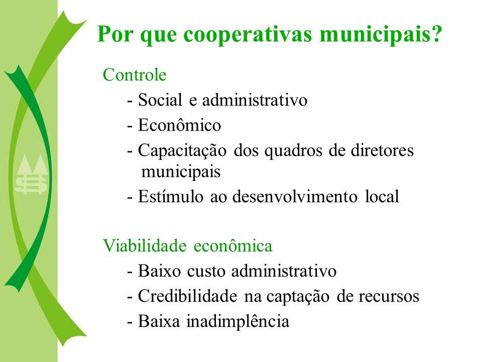 Por que cooperativas municipais