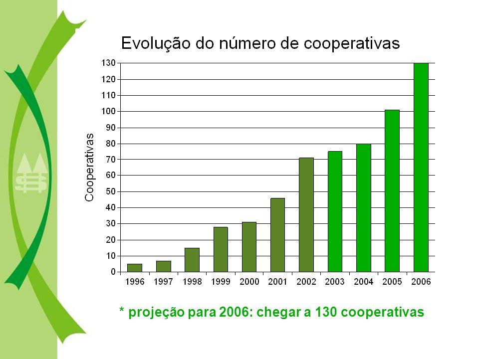 * projeção para 2006: chegar a 130 cooperativas