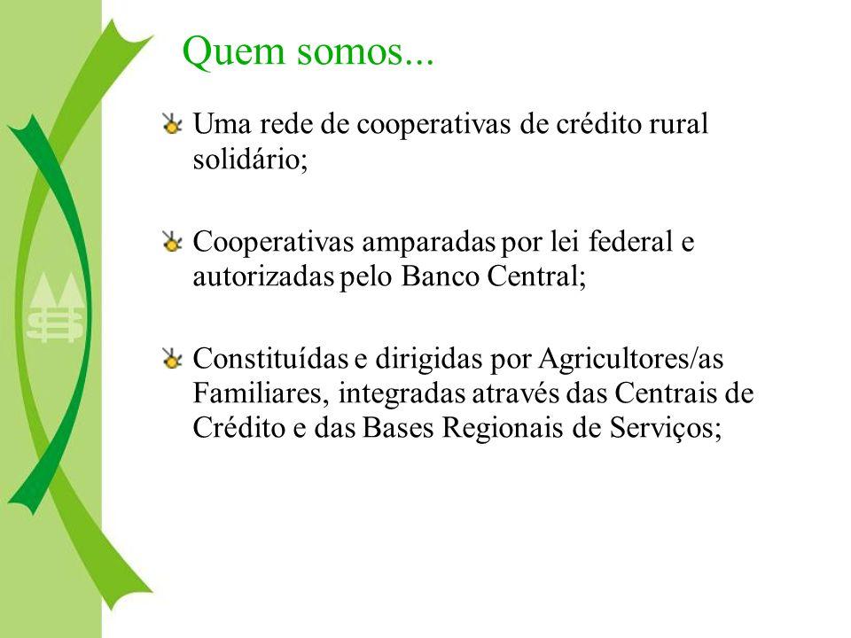 Quem somos... Uma rede de cooperativas de crédito rural solidário;