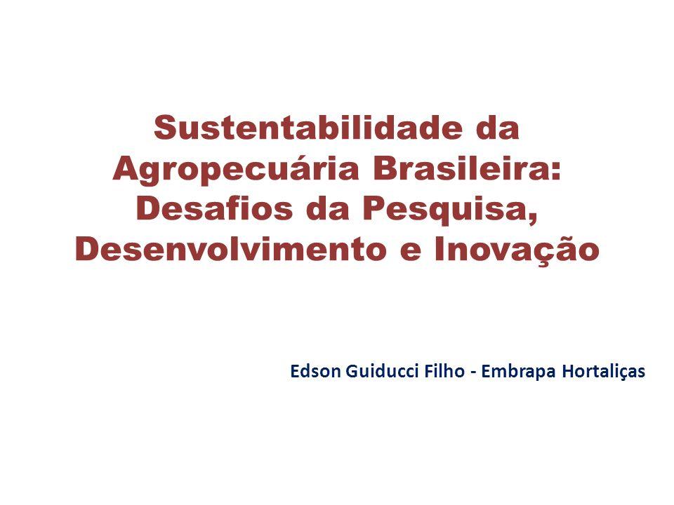 Sustentabilidade da Agropecuária Brasileira:
