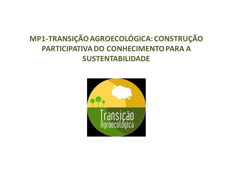 MP1-TRANSIÇÃO AGROECOLÓGICA: CONSTRUÇÃO PARTICIPATIVA DO CONHECIMENTO PARA A SUSTENTABILIDADE