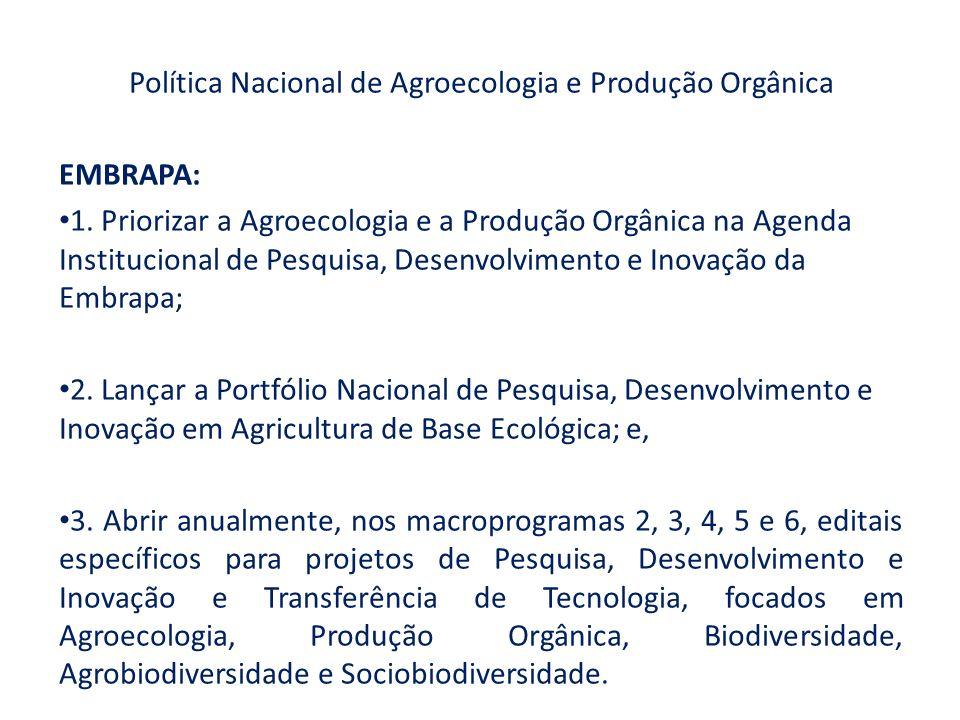 Política Nacional de Agroecologia e Produção Orgânica