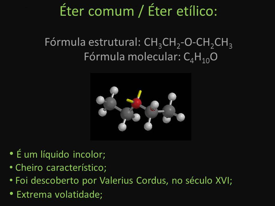 Éter comum / Éter etílico: