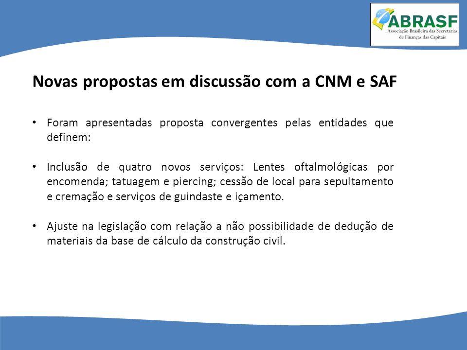 Novas propostas em discussão com a CNM e SAF