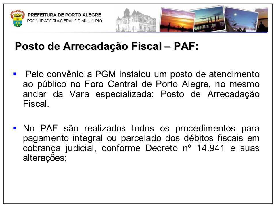 Posto de Arrecadação Fiscal – PAF: