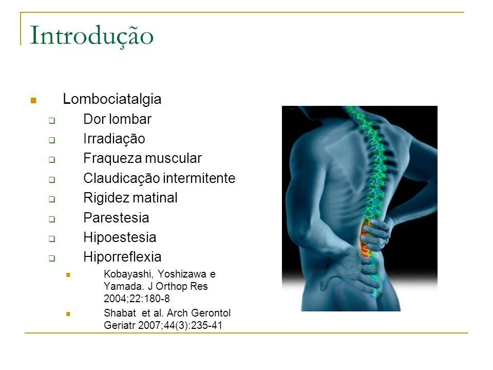Introdução Lombociatalgia Dor lombar Irradiação Fraqueza muscular
