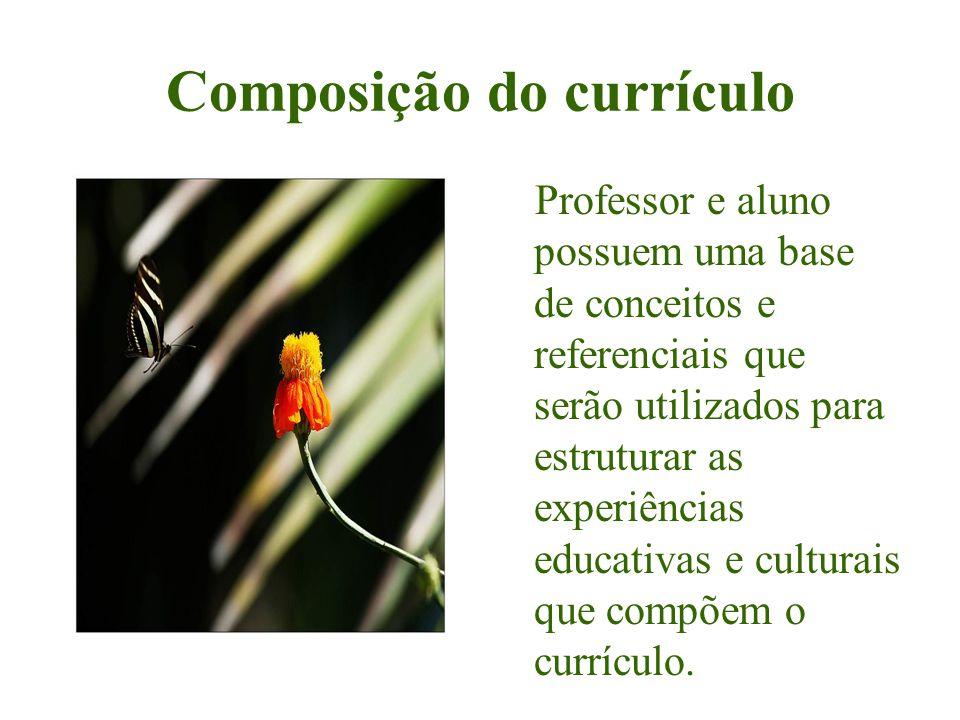 Composição do currículo