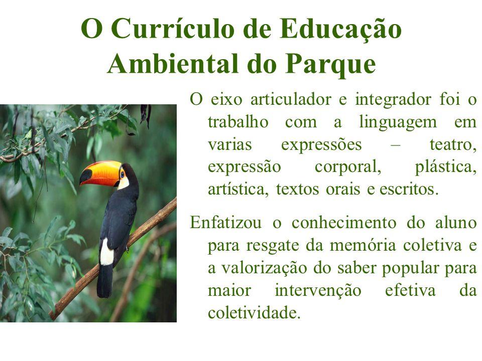 O Currículo de Educação Ambiental do Parque