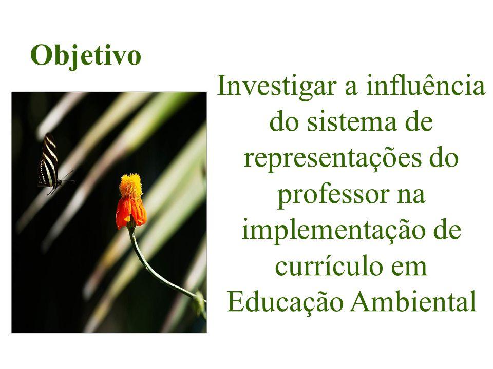 Investigar a influência do sistema de representações do professor na implementação de currículo em Educação Ambiental