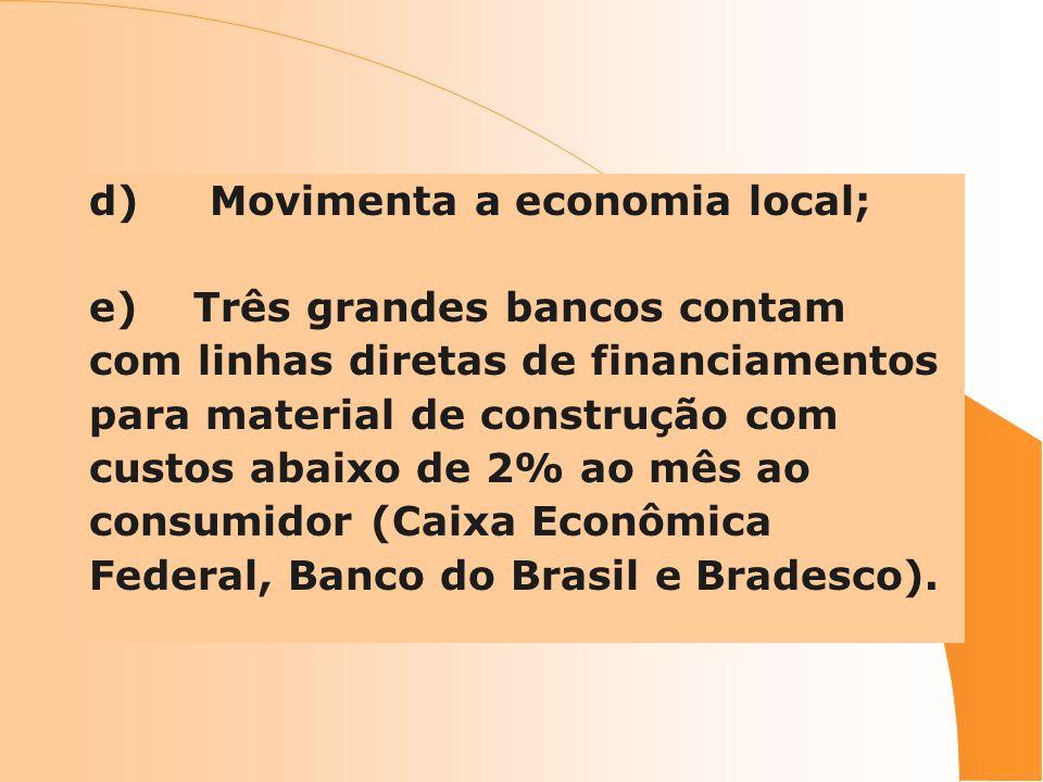 d) Movimenta a economia local;