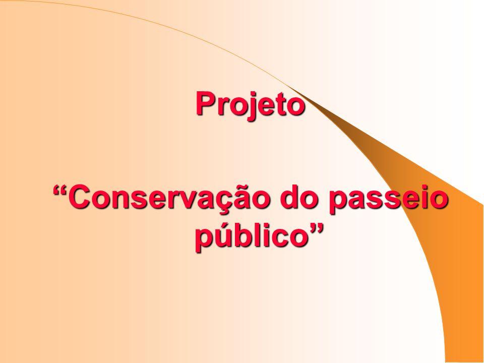 Conservação do passeio público