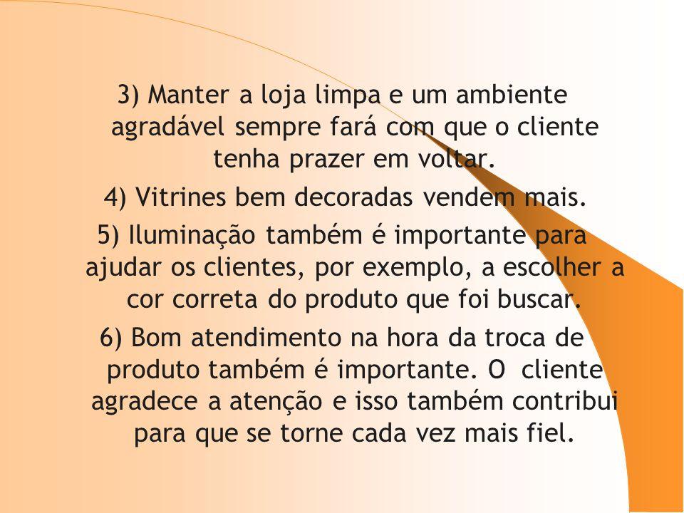 4) Vitrines bem decoradas vendem mais.