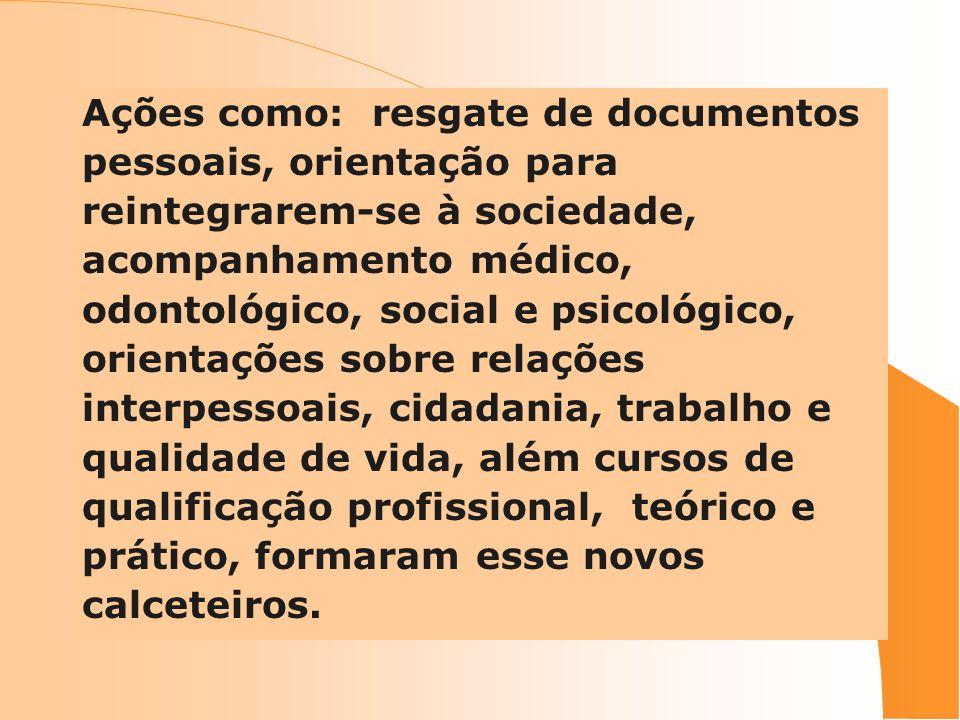 Ações como: resgate de documentos