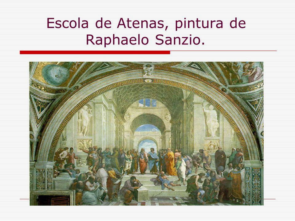Escola de Atenas, pintura de Raphaelo Sanzio.