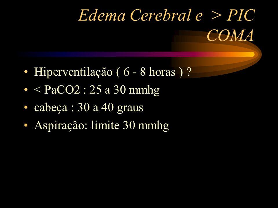 Edema Cerebral e > PIC COMA