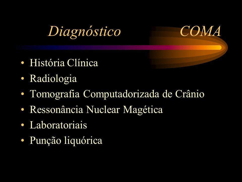 Diagnóstico COMA História Clínica Radiologia