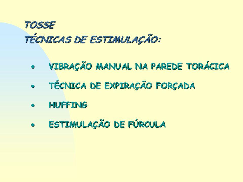 TOSSE TÉCNICAS DE ESTIMULAÇÃO: