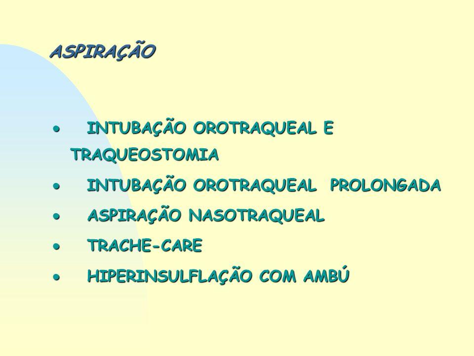 ASPIRAÇÃO  INTUBAÇÃO OROTRAQUEAL E TRAQUEOSTOMIA