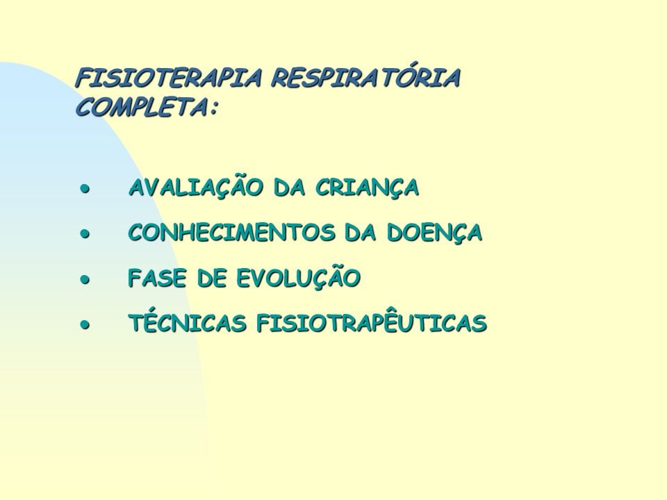 FISIOTERAPIA RESPIRATÓRIA COMPLETA: