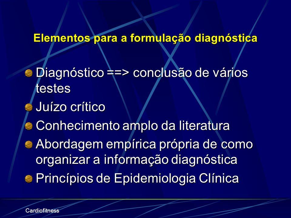 Elementos para a formulação diagnóstica