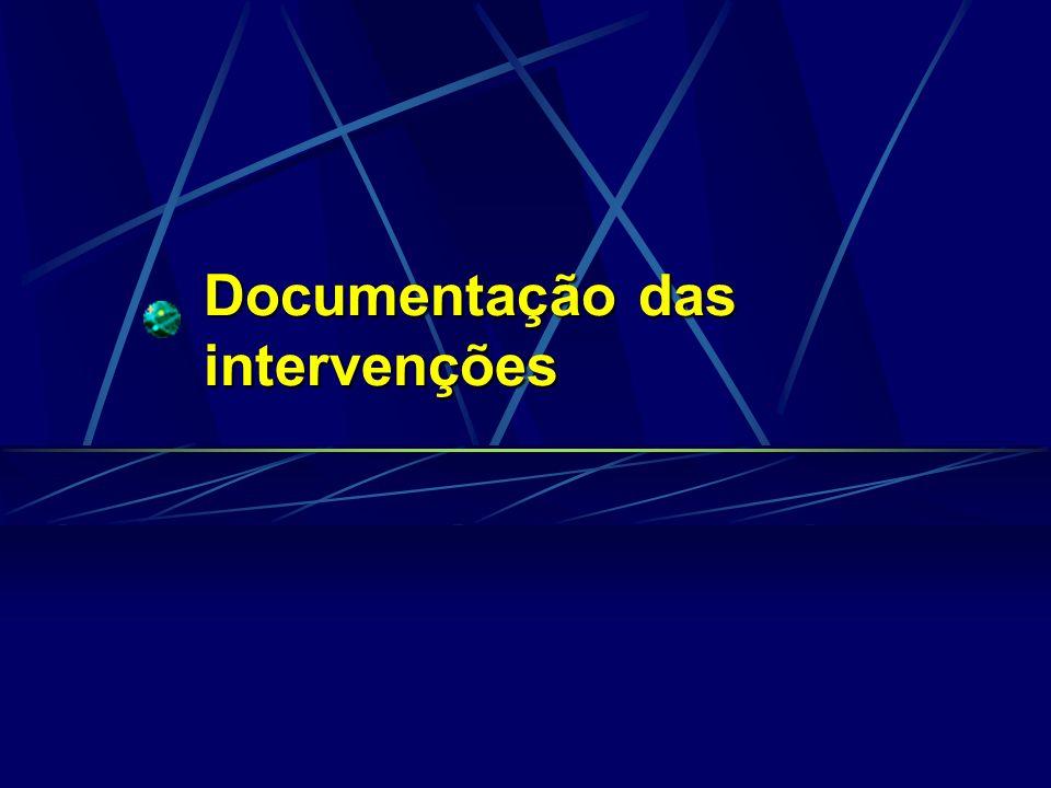 Documentação das intervenções