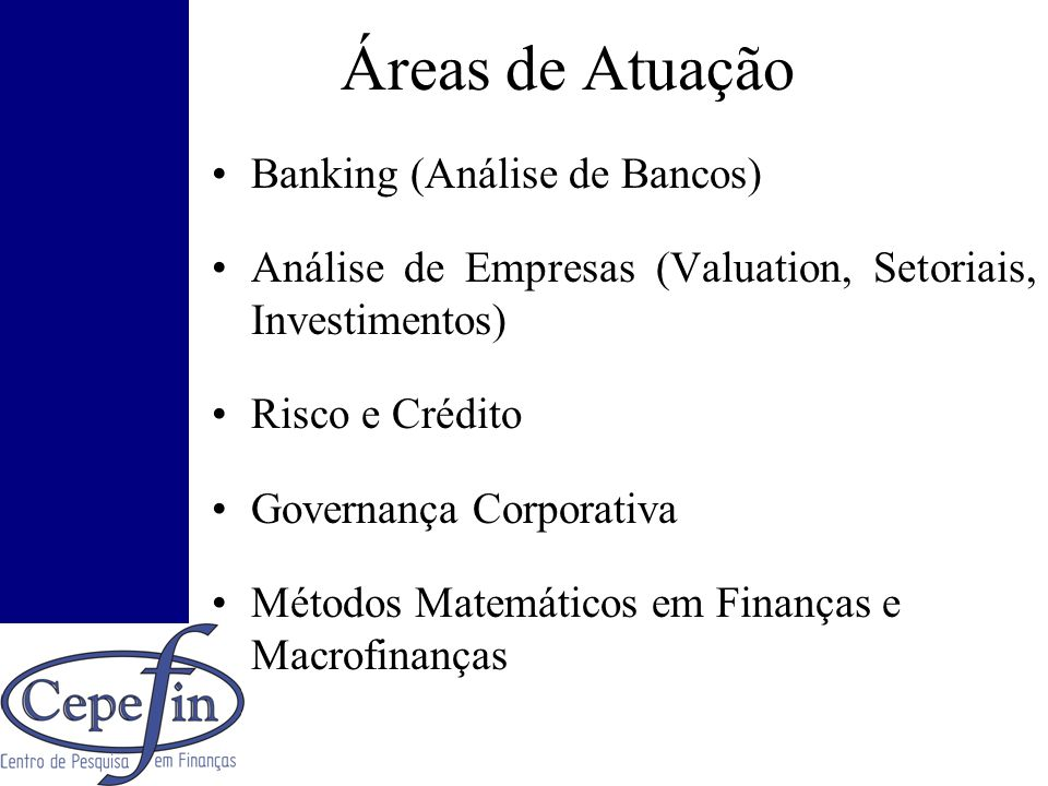 Áreas de Atuação Banking (Análise de Bancos)