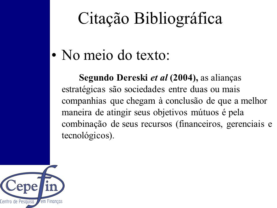 Citação Bibliográfica