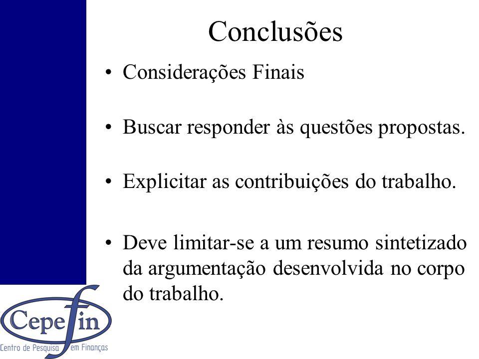 Conclusões Considerações Finais
