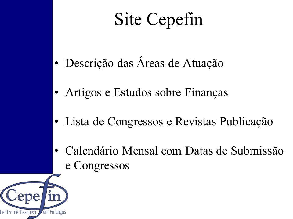 Site Cepefin Descrição das Áreas de Atuação