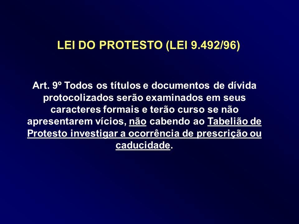 LEI DO PROTESTO (LEI 9.492/96)