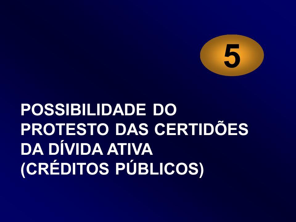 5 POSSIBILIDADE DO PROTESTO DAS CERTIDÕES DA DÍVIDA ATIVA