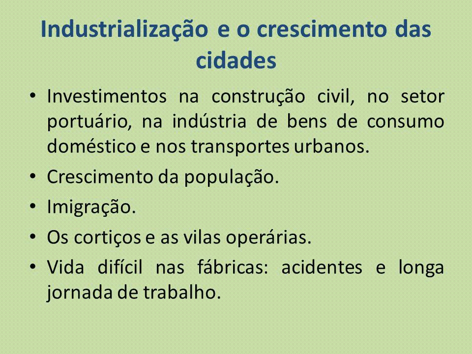 Industrialização e o crescimento das cidades