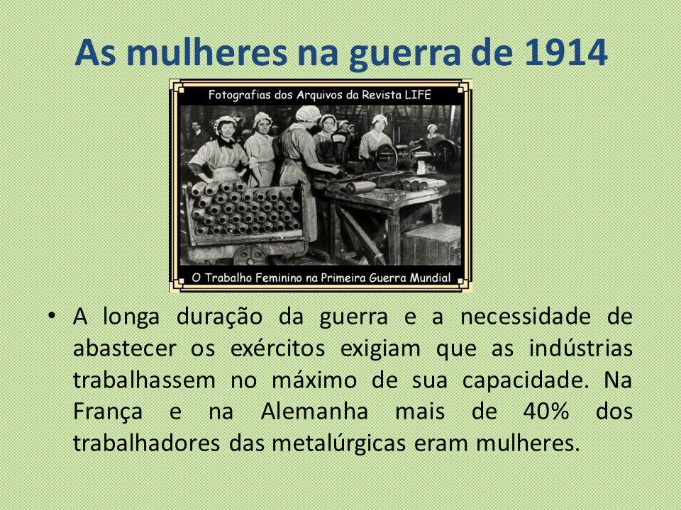 As mulheres na guerra de 1914