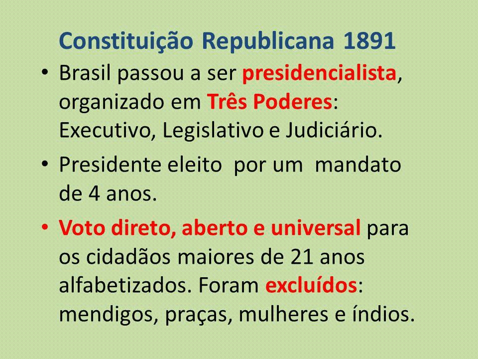 Constituição Republicana 1891