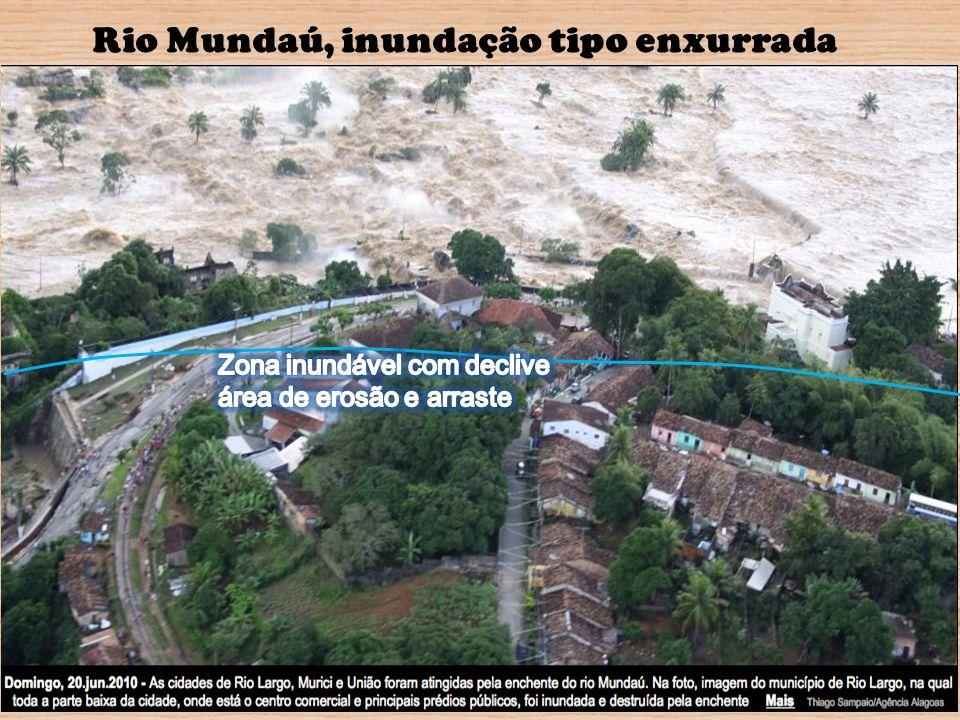 Rio Mundaú, inundação tipo enxurrada