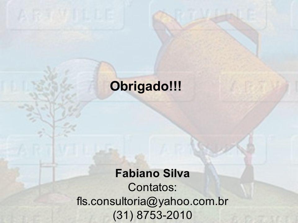Obrigado!!! Fabiano Silva Contatos: fls.consultoria@yahoo.com.br