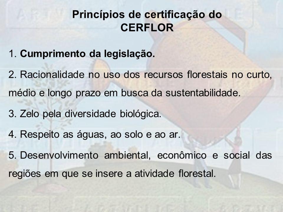 Princípios de certificação do