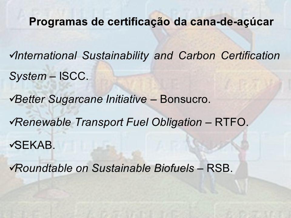 Programas de certificação da cana-de-açúcar