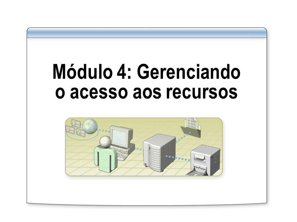 Módulo 4: Gerenciando o acesso aos recursos