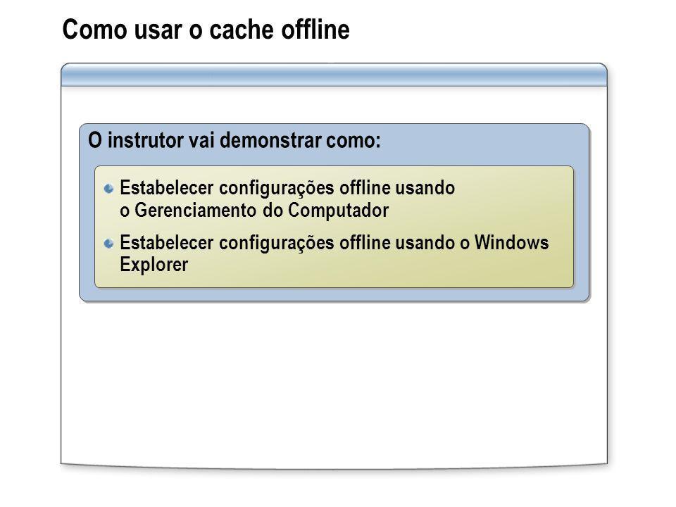 Como usar o cache offline