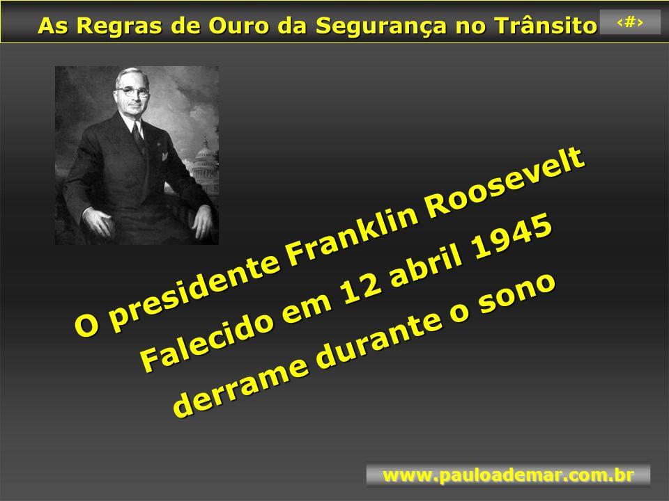 O presidente Franklin Roosevelt