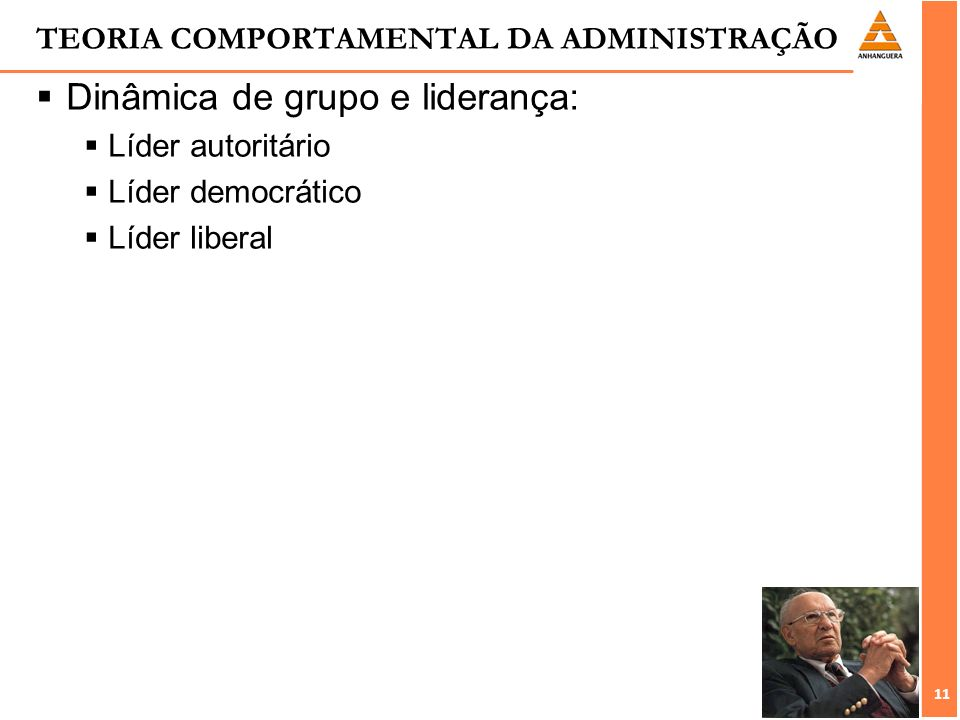 TEORIA COMPORTAMENTAL DA ADMINISTRAÇÃO