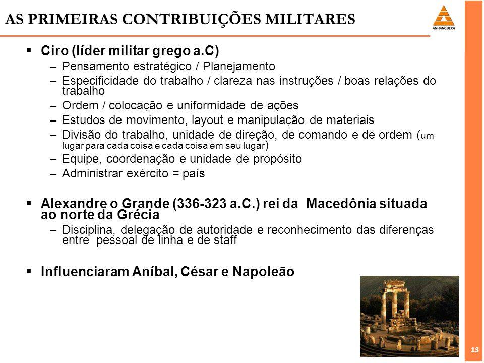 AS PRIMEIRAS CONTRIBUIÇÕES MILITARES