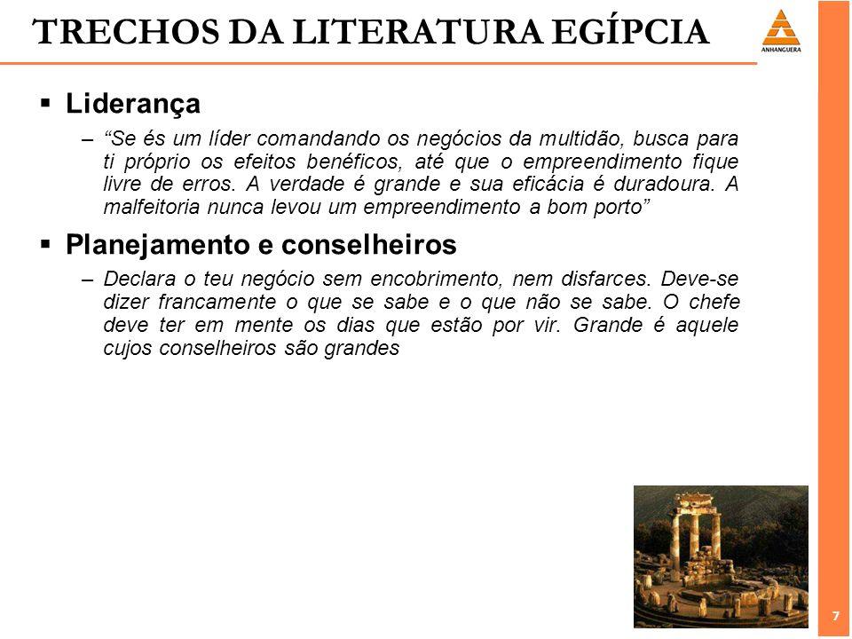 TRECHOS DA LITERATURA EGÍPCIA