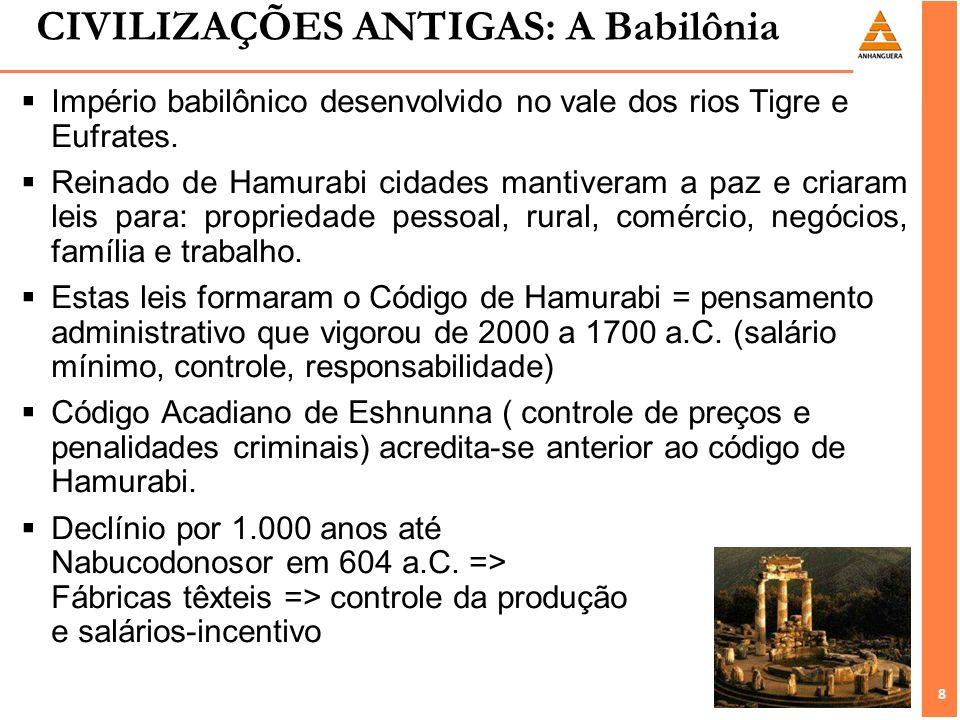 CIVILIZAÇÕES ANTIGAS: A Babilônia