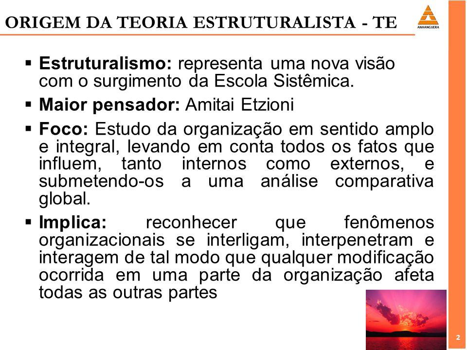 ORIGEM DA TEORIA ESTRUTURALISTA - TE