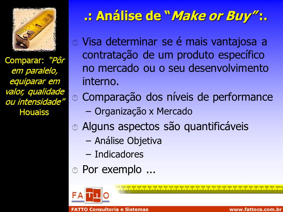 .: Análise de Make or Buy :.